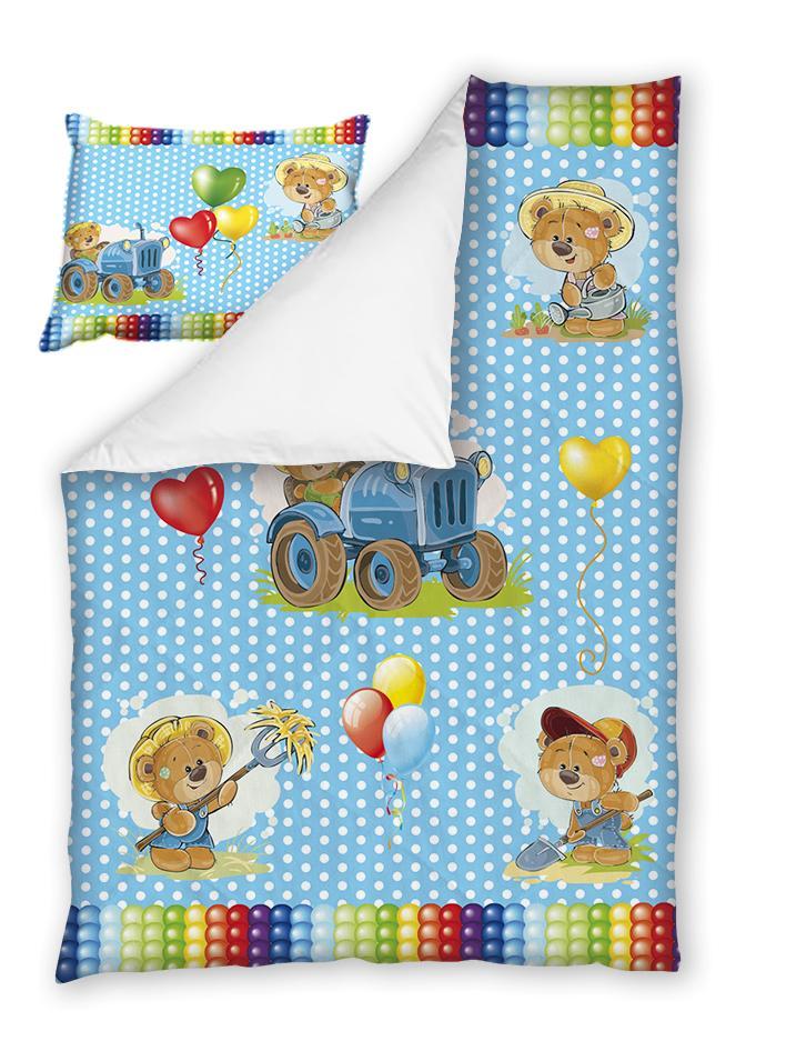 Бебешки спален комплект Сини Мечета 100% памук