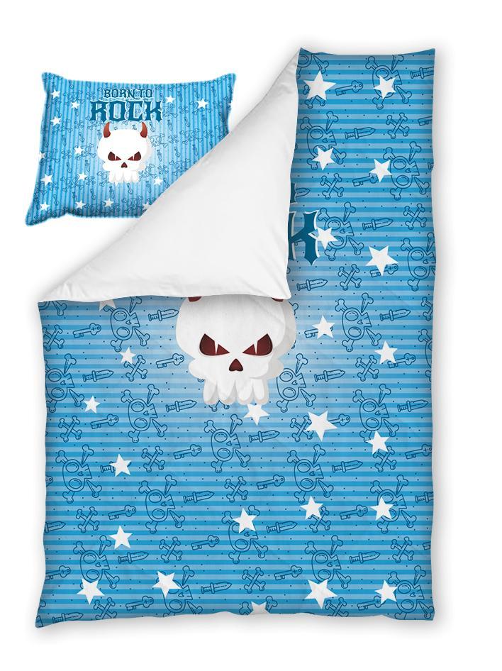 Бебешки спален комплект Рок в Синьо 100% памук