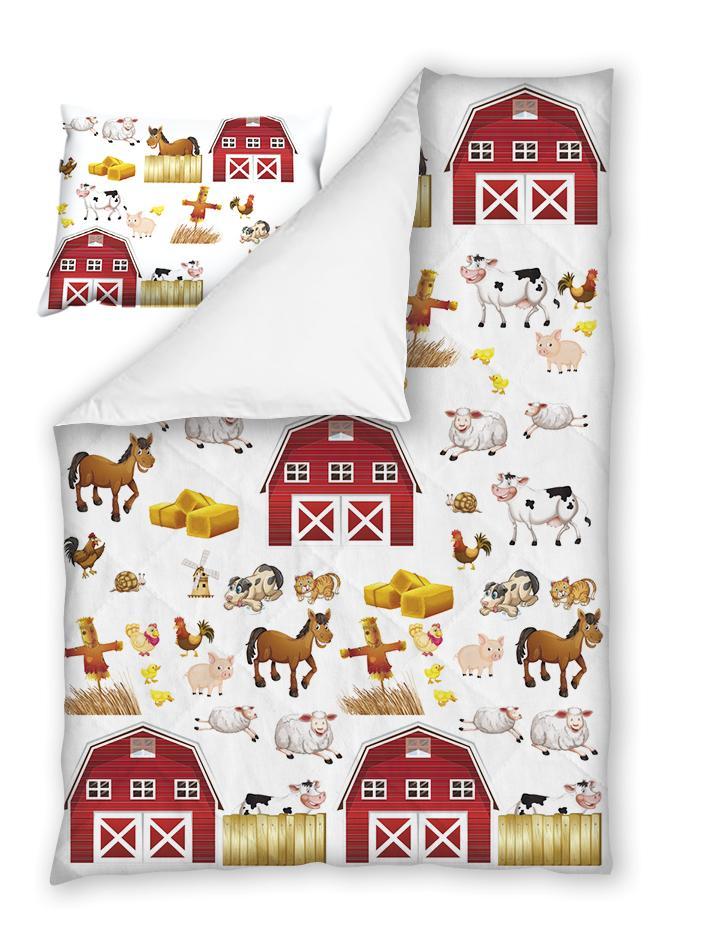 Бебешки спален комплект Детска Ферма 100% памук