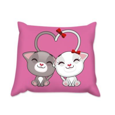 Възглавница Розови котки