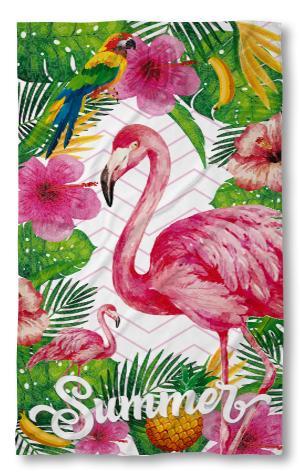 Хавлиена кърпа розово Фламинго