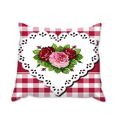 Възглавница Сърце с рози каре