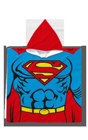 халати-за-баня-Poncho-Superman