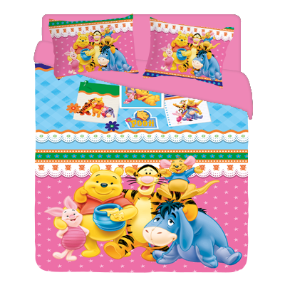 Pooh pink BED rozov
